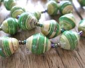 Paper Bead Necklace - Handmade in Uganda