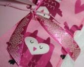 Owl Cloth Diaper Burp Cloth Set