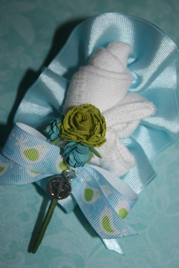 Baby Bootie Corsage