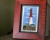 Barnegat Lighthouse in Punch Needle Embroidery