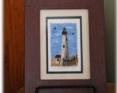 Cape May, NJ Lighthouse Punch Needle embroidery