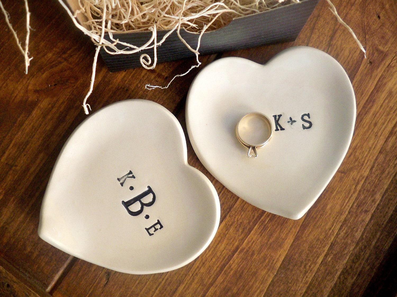 monogram ring dish engagement ring holder custom ceramic