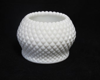 Vintage English Hobnail Milk Glass Vase