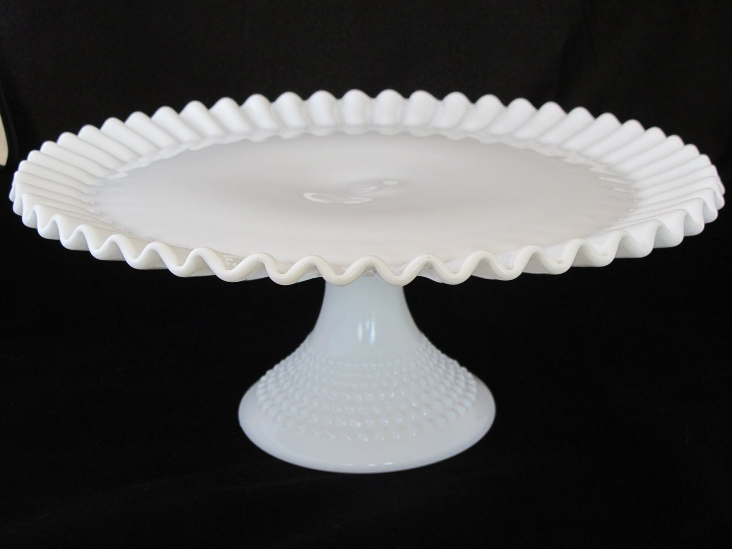Hobnail Milk Glass Cake Stand