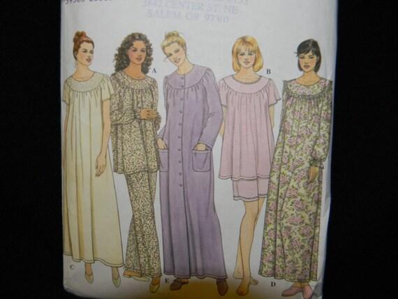 Uncut Simpicity Pattern 9012 Size XS-M Woman's Pajamas, Robe & Nightgown