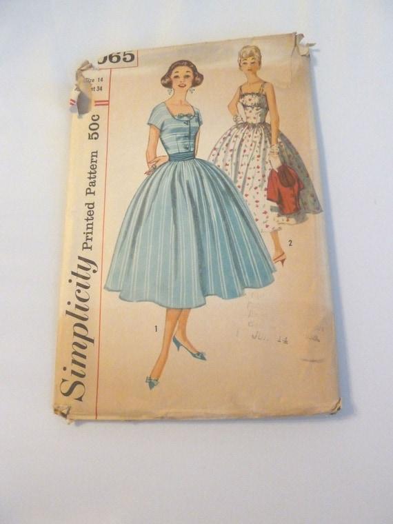 McCall 1950 Audrey Hepburn Style Womens Dress Pattern