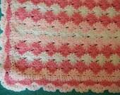Soft Crocheted Baby Blanket- Girl