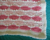 Soft Crocheted Baby Blanket- Girl
