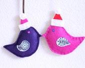 Set of two felt Christmas Ornament