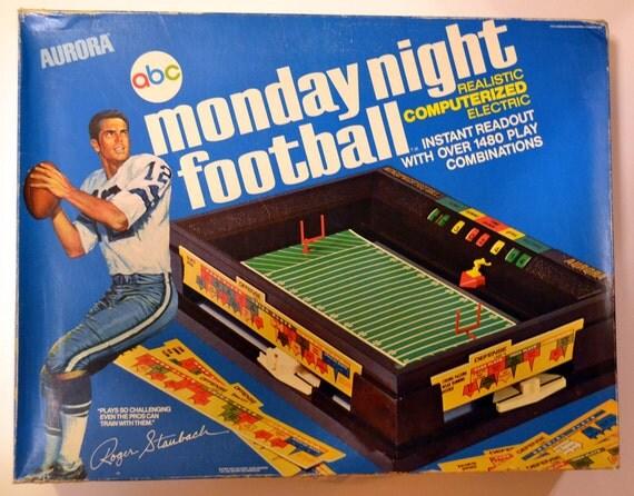 Monday night football game 1972 Aurora Roger Staubach ABC
