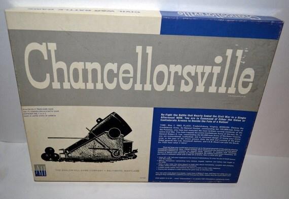 Chancellorsville Avalon Hill Civil War Game Second Edition 1979.