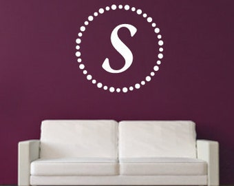 Modern Monogram - Vinyl Wall Decal