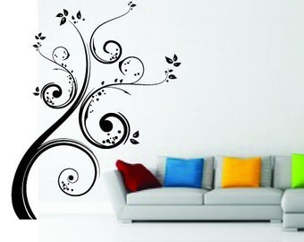Swirl Tree Vinyl Wall Decal