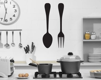 Spoon and Fork Removable Vinyl Wall Decal