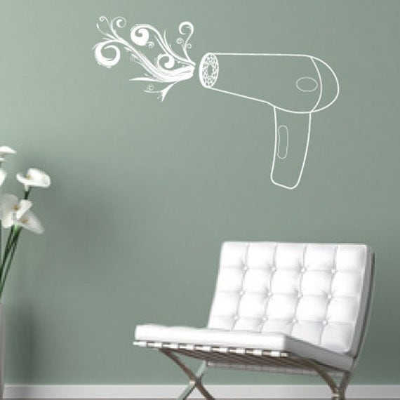 Blow Dryer - Removable Vinyl Wall Decal