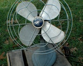 Vintage Blue and Silver Fan -Eskimo