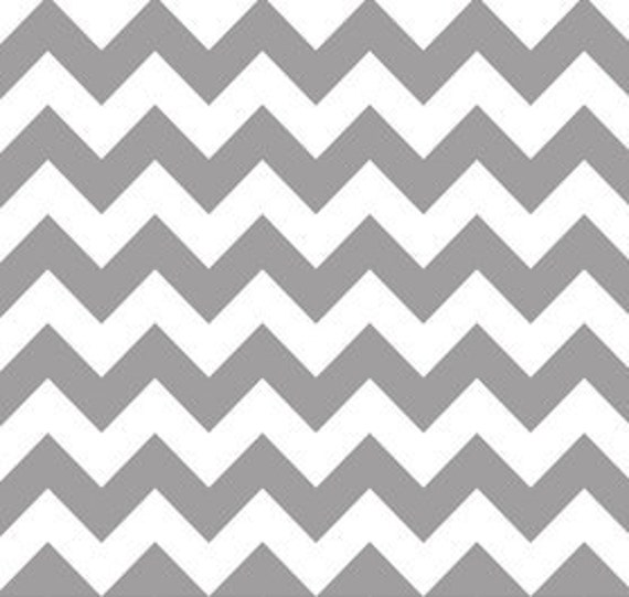 Gray and White Chevron Cotton Fabric by Riley Blake Designs - 1 Yard