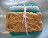 French Milled Goat Milk Soap and 2 Washcloths