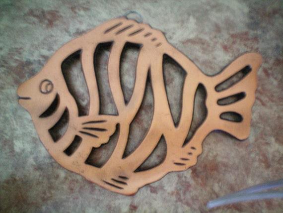 Vintage Cooks Tools Copper Fish Trivet-NIB