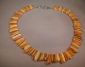 Peach, Yellow, Orange Stick Necklace. CK Designs.