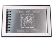 Wedding Album Custom Engraved Personalized Wedding Photo Album - Hand Engraved