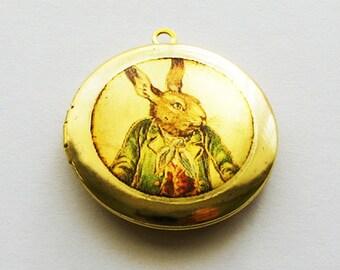 Alice in Wonderland White Rabbit Locket