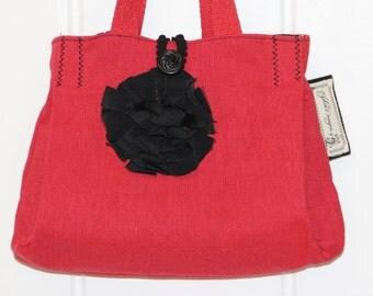 Red purse red handbag Scarlet Evening Bag