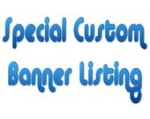 Special Personalized Custom -created- Birthday -or other- Banner listing - You pick