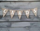 Cards Burlap Banner