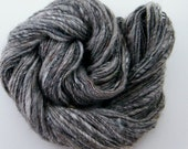 Gray Handspun Yarn- Stormy Weather, 112m, 100g, Worsted weight, Corespun