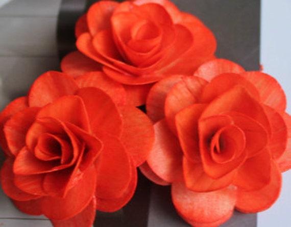Wood Birch Flower - Orange/Tangerine
