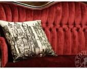 Decorative Pillow Case - Screenprint Pillow cover - Pearl