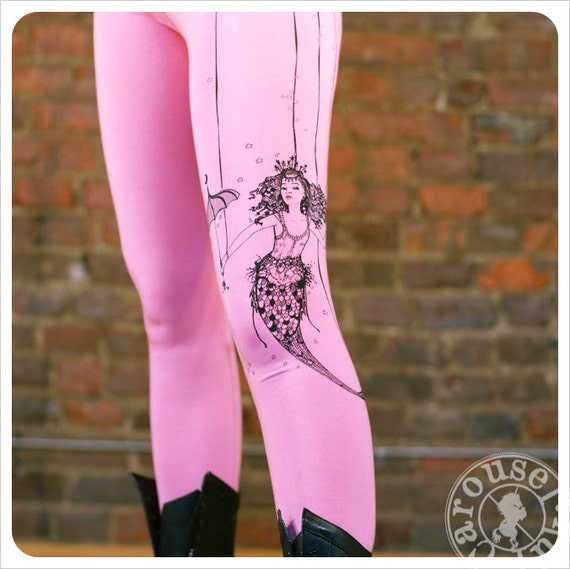 SALE - Pink Legging - Mermaid Leggings - Steampunk Legging - LARGE tights