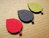 Die Cut Paper Leaves Medium 36 - Handmade die cuts, tags, and paper crafting supplies by UniquesStashNStuff