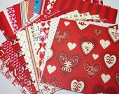 Valentine Scrapbook double sided paper K & Co. 6x6 - Handmade die cuts, tags, and paper crafting supplies by UniquesStashNStuff