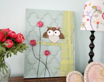 Pretty Bird 3D handmade original Painting 12x16 on canvas