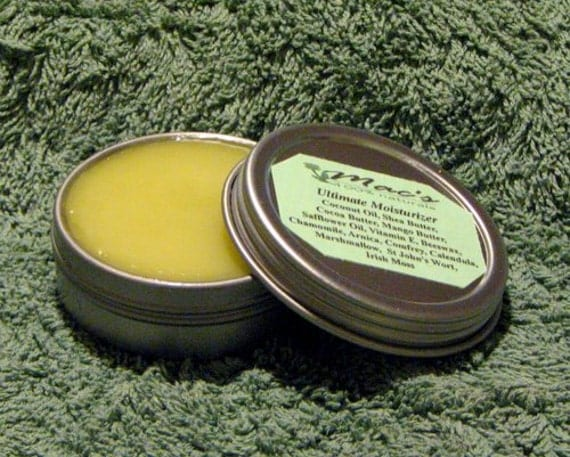 Mac's Natural Face & Hand Salve for Men. Unscented, Chemical Free
