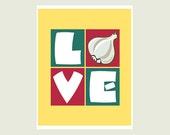 Kitchen Art print - Love with Garlic