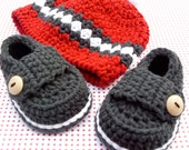 Baby Boy Hat and Booties Gift Set Size 0/3 Months Ready to Ship