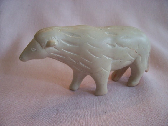 Vintage Hand Carved Soapstone Sheep