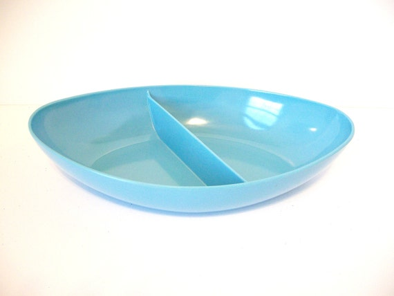 Mid Century Melmac Serving Bowl Turquoise MAR-CREST Free USA Shipping