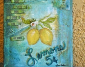 If Life Gives You Lemons 8 x 10 canvas painting
