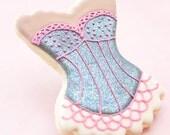 Glitter Burlesque Bachelorette Cookie Favors - Lingerie Corset Wedding Party Favors // 1 doz. // Bridesmaid Wedding Shower Showgirl Cabaret