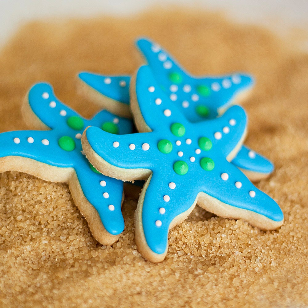 Items Similar To Starfish Beach Wedding Cookie Favors