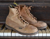 Vintage Doc Martens Tan Leather Lace Up Ankle Boots Small