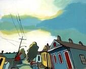 "New Orleans Urban Landscape, ""Streetview"" Touro Headed East, 8""x10"" Art Print"