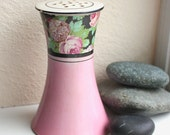 Antique Hat Pin Holder Art Deco Pink Roses Lilacs