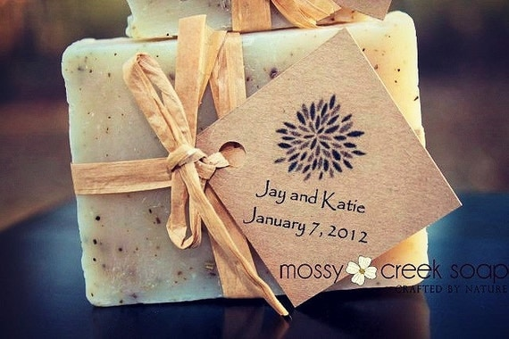 Rustic Wedding Soap Favors