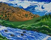 El Portal, California, Gouache on canvas, 2007, Greeting Card