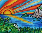 Paradise, 2007, Prismacolor (Greeting Card)